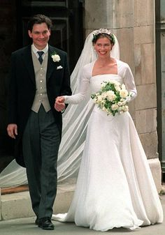 19th wedding anniversary of Lady Sarah Armstrong-Jones, daughter of Princess Margaret, and Daniel Chatto; married at St. Stephen Walbrook in London, England on July 14, 1994