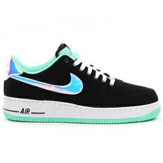 Nike Air Force 1 Black/Shiny Silver/Green Glow - The green glow color has  been making the rounds on a host of Jordan .