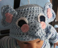 Light Blue Infant Size Elephant Hand Made by DonnasCrochetDesigns