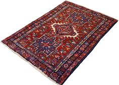 NEW! Vintage Persian Karaja area rug, available in-store and online here: https://www.mainstreetorientalrugs.com/collections/new/products/3-4x4-8-persian-karaja