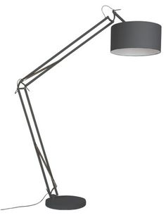 XXL vloerlamp   Leverbaar in mat grijs en mat wit   afmeting H200xB50xD120cm   á €199,00   Gratis levering