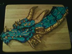 Dragon perler bead design by ~rentintent on deviantART