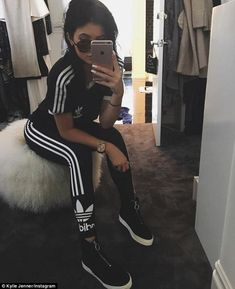 Snap: The 18-year-old shared a selfie from what appeared to be her walk-in closet as she g...