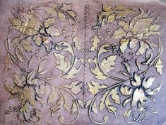 Large Plaster Stencil Antoinette Panel Wall by ElegantStencils