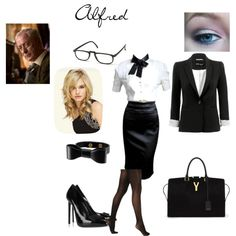 """""""Alfred"""" from batman Office Outfits, Satin Dresses, Harley Quinn, Yves Saint Laurent, Fashion Looks, Style Inspiration, My Style, How To Wear, Movie Outfits"""