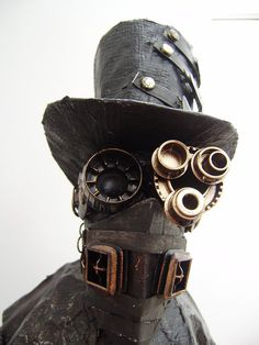 The Steam Punk Technomancer was originally my take on a mix of a Skeksis and Dr Caligari. Experimenting with bits of found junk he quickly gained wheels and a mechanical device growing from his bac...