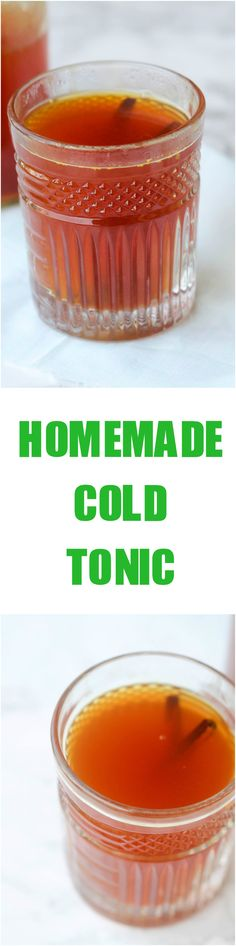 Homemade Cold Tonic combines different aromatic spices to keep you hydrated, boost your immune system and possibly prevent cough and cold.