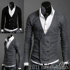 me encanta http://www.ebay.com/itm/New-2-Colour-Mens-Slim-Fit-Premium-Stylish-V-neck-Sweater-Jumper-Tops-Cardigan-/290910290934?pt=US_CSA_MC_Sweaters==item43bb9ac3f6