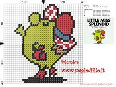 Little Miss Splendid (Mr. Men) cross stitch pattern (click to view)