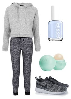 """""""Untitled #5"""" by rachealprincess123 ❤ liked on Polyvore featuring Splendid, Topshop, NIKE, Essie and Eos"""