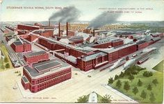 Studebaker Vehicle Works, South Bend, Indiana vintage Post Card. In its Heydey the plant produced 125,000 vehicles every year. Card has a Divided Back, is Unused and in Excellent Condition. The Studebaker Plant is now the Studebaker Museum and at the same location. Karodens Vintage Post Cards www.bonanza.com/booths/karoden