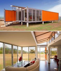 Container House - Build Your Own Eco House Cheap: 10 DIY Inspirations - Who Else Wants Simple Step-By-Step Plans To Design And Build A Container Home From Scratch? Building A Container Home, Container Buildings, Container Architecture, Shipping Container Home Designs, Container Design, Shipping Containers, 40 Container, Container Office, Prefab Homes