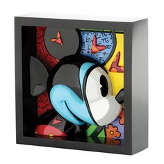 NEW OFFICIAL Romero Britto Mickey Mouse Disney Framed Pop Art Block (4033866) in Collectables, Disneyana, Contemporary (1968-Now) | eBay