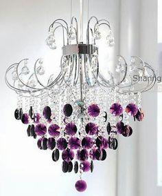 Purple chandalier