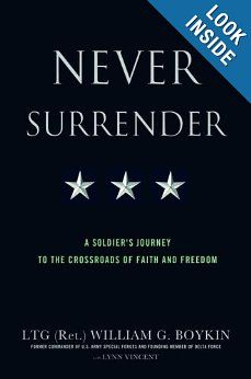 An encouraging and riveting book by a man of faith and action. Lt. Gen. Boykin spent years leading soldiers both in defense of freedom and liberty, and towards eternal salvation through Christ.