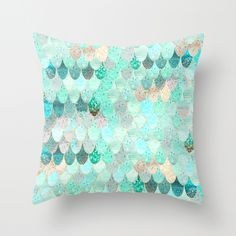 SUMMER MERMAID Throw Pillow 16X16 $20