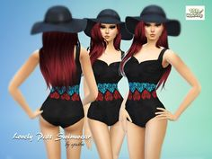 The Sims Resource: Lovely Patt Swimwear by Apathie • Sims 4 Downloads [X] Downloaded