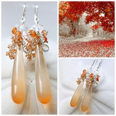 The Parfum d'Automne earrings ~