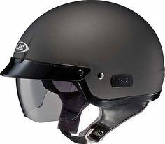 Sunzy Mens motorcycle half helmet black open face Harley motorcycle half helmet lightweight in summer meets DOT approval,Bright black,S