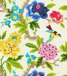 Home Decor Print Fabric- Waverly Candid Moment Gardenia