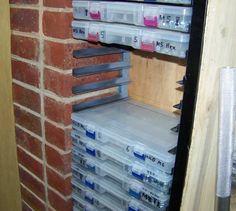 Australian workshop - big plans in a small space - The Garage Journal Board Garage Workshop Organization, Workshop Storage, Home Workshop, Garage Storage, Bead Storage, Craft Room Storage, Tool Storage, Storage Ideas, Garage Tools