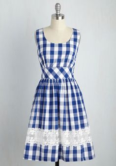 Maine Attraction Dress in Gingham, #ModCloth