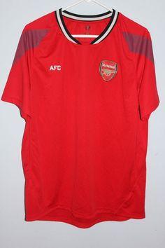 Arsenal AFC Red Jersey Football Soccer Shirt Men's Size XL #Arsenal #Arsenal