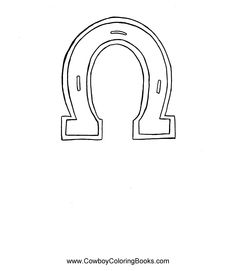 horse shoe coloring page..use for a pattern. Could make this out of cardboard and do the foil on it (like in my other pin)