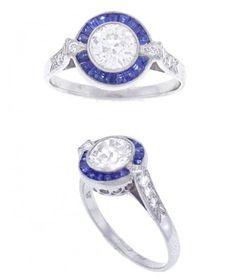 1.02ct Diamond & Sapphire Ring - Pretty Please!