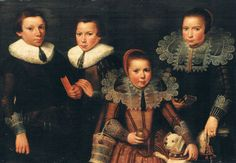 1627 Wybrand de Geest - A family portrait of two brothers and two sisters