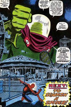John Romita Sr. draws Spider-man and Mysterio