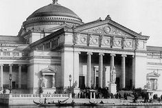 South side of Fine Arts Palace - World's Fair Chicago 1893
