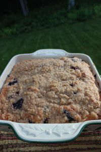 Blueberry Struesel and Spinach squares 029