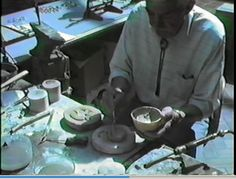 "GC1- He made ""Jewelers Cast"" by mixing 3 parts fine silica sand with 1 part clay, a little water, then spooned it out ,"