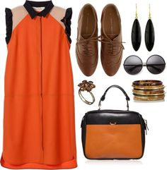 """""""ORANGE you glad I didn't say banana?"""" by luna17 ❤ liked on Polyvore"""