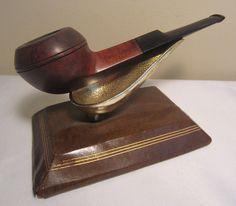 1940s Wally Frank LTD. Oil Boiled Straight Bulldog Estate Briar Tobacco Pipe #30