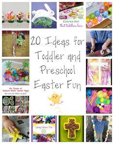 20 Ideen für Kleinkind und Vorschul Ostern Fun
