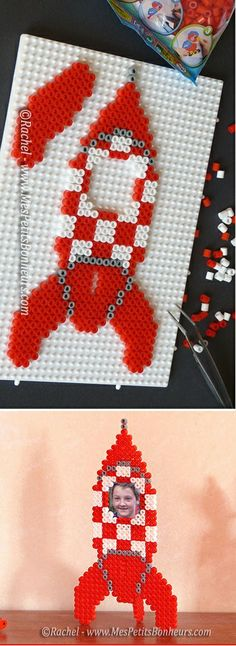 shooting star done with perler beads Pony Bead Patterns, Pearler Bead Patterns, Perler Patterns, Beading Patterns, Perler Bead Designs, Motifs Perler, Peler Beads, Beads Pictures, Melting Beads