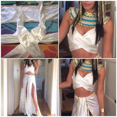 DIY CLEOPATRA COSTUME -- final stages                                                                                                                                                                                  More