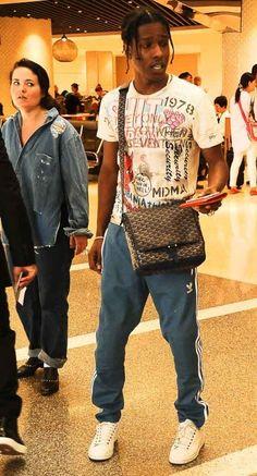 Asap Rocky Outfits, Asap Rocky Fashion, Lord Pretty Flacko, Don Juan, Fashion Mag, Fine Men, Urban Outfits, Streetwear Fashion, Famous Stars
