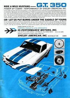 1965 Ford Mustang Shelby GT-350 Ad