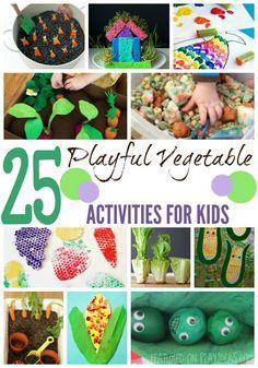 25 Playful Vegetable Activities For Kids – Page 4 – Play Ideas Dinosaur Activities, Infant Activities, Activities For Kids, Thanksgiving Activities, Activity Ideas, Learning Activities, Craft Ideas, Toddler Crafts, Preschool Crafts