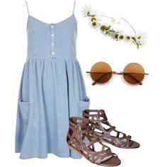 Modern hippie summer outfit