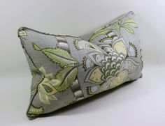 P Kaufmann Clarice Dove Lumbar Pillow Cover, Decorative Pillow Cover, Cushion Cover