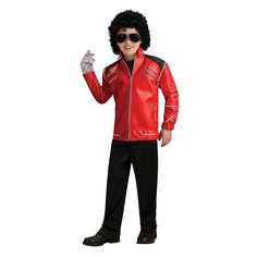 Your child can channel their inner Michael Jackson while wearing this Deluxe Red Zipper Jacket. Moon walk during trick or treating on Thriller night, this jacket resembles the one worn by Michael Jackson in his famous Beat It music video. Michael Jackson Halloween Costume, Michael Jackson Costume, Celebrity Halloween Costumes, Halloween Costumes For Kids, Halloween 2014, Halloween Stuff, Red Media, Boy Costumes, Costume Ideas