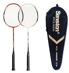 Senston - 2 Player Badminton Racket Set Double Rackets Carbon Fiber Shaft Racquets Badminton Set - Including 1 Badminton Bag - Excellent product and very easy t Best Badminton Racket, Badminton Bag, Badminton Games, Badminton Sport, Tennis Racket, Best Boyfriend Gifts, Racquet Sports, Rackets, Cool Things To Make