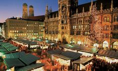 Munich holds its traditional Christmas Market from November to December 2020 on Marienplatz (St. Mary's Square) in the center of Munich. Stuttgart Christmas Market, Christmas Markets Germany, German Christmas Markets, Christmas Markets Europe, Best Tourist Destinations, Amazing Destinations, Christmas Destinations, Oh The Places You'll Go, Places To Visit