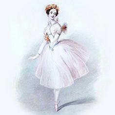 Marie Taglioni in La Sylphide, 1832