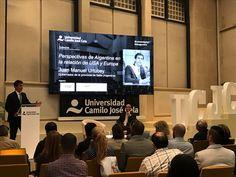 """Juan Manuel Urtubey fue invitado por la Universidad Camilo José Cela de Madrid para dar su visión en una conferencia sobre las """"Perspectivas de Argentina en la relación entre Europa y Estados Unidos"""", encuentro organizado en la capital española. La charla forma parte de una serie de conferencias magistrales con líderes políticos que organiza la Universidad de Madrid, en la que ya participaron otros dirigentes de referencia en la región. Urtubey hizo un resumen sobre la situación nacional y…"""
