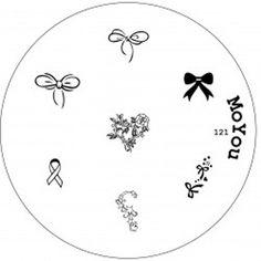 Moyou Plate 121 - Stamping Nail Art